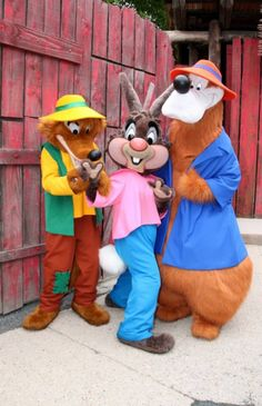 Uncle Remus's Song of the South characters. Brer Rabbit,Brer Fox, and Brer Bear.