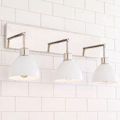Young House Love Dapper Bath Light - Shades of Light Diy Bathroom, Light Shades, Led Replacement Bulbs, Bathroom Styling, Light Fixtures, Bath Light, Small Bathroom, Light, Shower Design