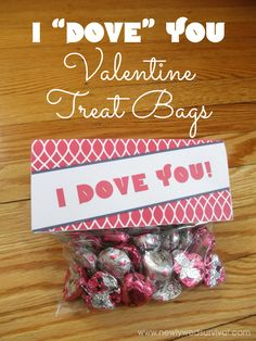 Looking for an easy and inexpensive DIY Valentine idea for your spouse? Try these adorable Dove treat bags!