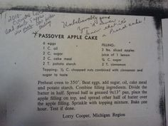 Amazing apple cake - you'd never know it was a Pesach cake!