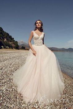 Romantyczna suknia ślubna Lanesta