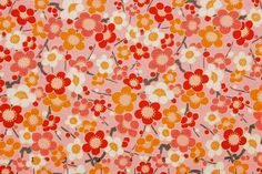 washi paper: Pink  Retro flowers on pink