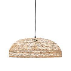 Medium Wicker Hanging Lamp - Natural