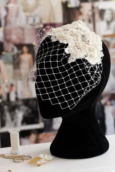 Bespoke vintage wedding headpiece by Percy Handmade