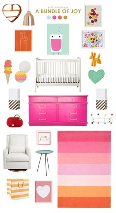 A pink & happy nursery.