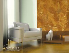 Penthouse, Loft, Wohnzimmer Wandideen Mit Rost Effekt, Volimea  Wandbeschichtung In Raum Lippstadt