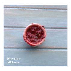 Miniature 1:12 Scale Food - Bowl of Chilli Con by DinkyDinerMinis