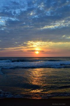 Outer Banks NC Local Artists Facebook post:  OBX Sunrise, Nags Head,  NC 4-4-14, photographer credit: Barbara Ann Bell.