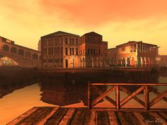 """SL Flickr Pic of the Day, """"Venice,"""" By Tomais Ashdene. Visit in world here: http://maps.secondlife.com/secondlife/Venice%20Passion/113/199/21"""