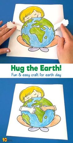Girl Hugging Earth Printable Craft