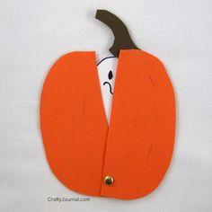 Crafty Journal - Peek A Boo Ghost ☀CQ #halloween #crafts #DIY óÓò