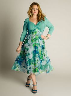 Sun dress for plus size women