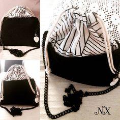Black and White fashion 🖤 . Drawstring Pouch, White Fashion, Bag Sale, Backpacks, Purses, Black And White, Bags, Etsy, Handbags