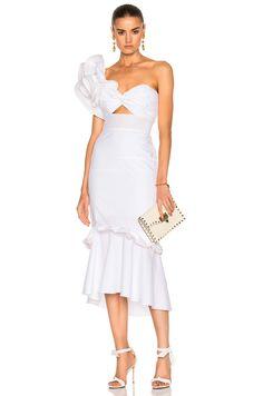Image 1 of Johanna Ortiz Maloka Cotton Poplin Dress in White Havana Nights Dress, Havana Nights Party, Havana Party, Cuban Dress, Party Dress Outfits, Wedding Outfits, Wedding Dress, Nice Dresses, Summer Dresses