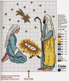 schema punto croce nativita' presepe   Hobby lavori femminili - ricamo - uncinetto - maglia
