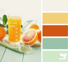 citrus hues from Design Seeds are a great palette for the vintage couple.