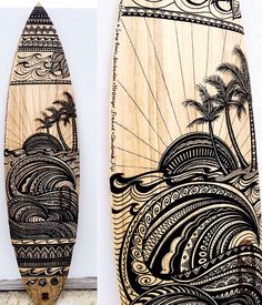 Longboard Discover Jess Lambert Draws Halcyon Lines on The Wire podcast - Firewire Surfboards Surfboard Painting, Surfboard Art, Skateboard Art, Surfboard Drawing, Surfboard Table, Wooden Surfboard, Surf Design, Surf Kunst, Firewire Surfboard