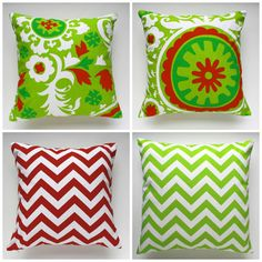 Christmas Pillow cover holiday red and green by PrettyPillowsDecor, $15.00
