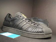 2002 ADIDAS SUPERSTAR WV WOVEN BLACK GOLD METALLIC GREY 147436 Sz 11.5 343469f2b7