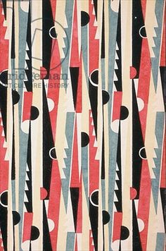 Geometric Art Deco textile design, France, 1933