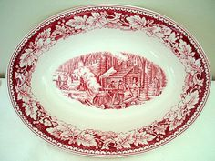 Hey, I found this really awesome Etsy listing at https://www.etsy.com/listing/100598852/antique-red-toile-transferware-homer