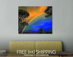 Discover «Early Morning Summer Rainbow», Limited Edition Canvas Print by Glink - From $75 - Curioos