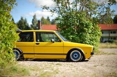 Very yellow golf. Volkswagen Golf Cabriolet, Volkswagen Golf Mk1, Vw Mk1, Golf 1, Jetta Mk1, Mk1 Caddy, Vw Scirocco, Retro Cars, Sport Cars