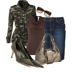 """""""Classy Camo"""" by christina-young on Polyvore"""