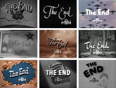 "Hundreds of stills of ""The End"" titles of Metro Goldwyn Mayer (MGM) movies from 1925 to"
