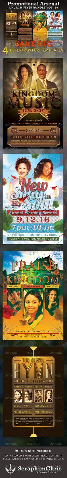Church Marketing Flyer Bundle-Vol 010 Marketing flyers, Churches - promotional flyer template
