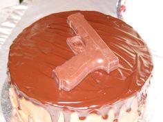 Brides gun cake by Stacy Gun Cakes, Funny Birthday Cakes, Brides, Pudding, Desserts, Food, Tailgate Desserts, Deserts, Custard Pudding