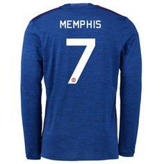 Manchester United 16-17 #Memphis Depay 7 Udebanesæt Lange ærmer,245,14KR,shirtshopservice@gmail.com