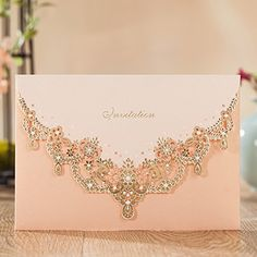 Wishmade Wedding Invitations Cards, Light Pink, 100 Piece...