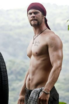 Chis Hemsworth- that family has excellent genetics.