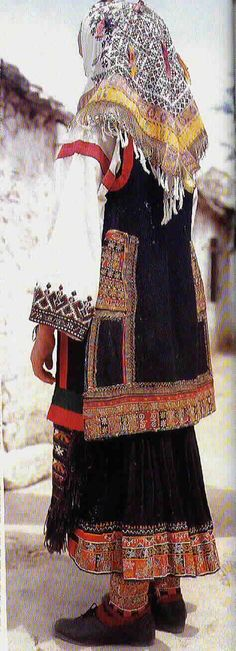 Traditional dress from Croatia.  Splendid embroidery.
