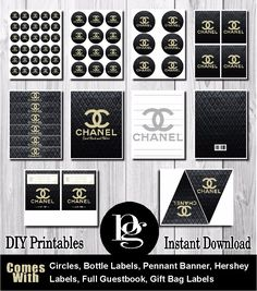 chanel, chanel party, chanel theme, chanel party favors, chanel party supplies…