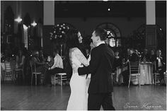 Bride and Groom first dance, First Dance, Black and White, Authentic Moments, Detroit Yacht Club Wedding, Belle Isle, Metro Detroit Wedding, The Knot Top Pick, Sarah Kossuch Photography