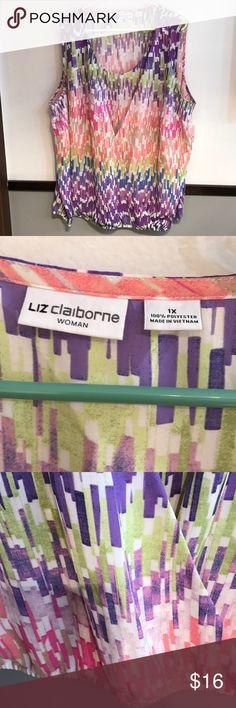 Liz Claiborne sleeveless top Liz Claiborne sleeveless top.  2X Liz Claiborne Tops Tunics