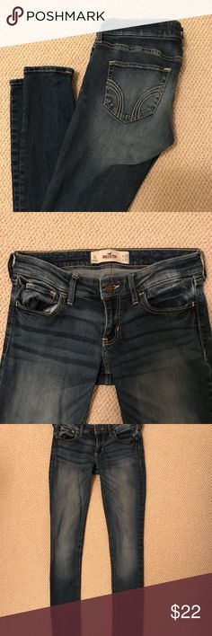 Hollister 3L super skinny jeans Hollister 3L super skinny jeans, fit tight for a 3! Worn minimally. Hollister Jeans Skinny