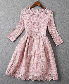 Pink Lace Dress - - Pink Lace Dress Source by Dress Me Up, Dress Skirt, Dress Lace, Swag Dress, Gown Dress, Dress Shoes, Pretty Dresses, Beautiful Dresses, Jw Mode