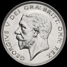 1934 George V Silver Half Crown, Scarce, A/UNC