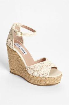 Steve Madden 'Marrvil' Wedge available at #Nordstrom - a little high though :( but so cute!