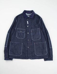 Engineered Garments Indigo Cone Denim Coverall Jacket
