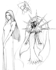 View an image titled 'Edea Kramer Sketch' in our Final Fantasy VIII art gallery featuring official character designs, concept art, and promo pictures. Final Fantasy Artwork, Final Fantasy Characters, Fantasy Concept Art, Final Fantasy X, Fantasy Series, Game Character Design, Character Art, Tetsuya Nomura, Fantasy Pictures