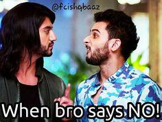 NObody wants to hear #NO!  #fcishqbaaz #TheOberoiBrothers #Omkara #Rudra #Ishqbaaaz
