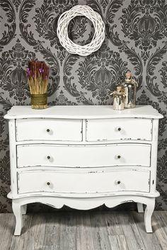 Shabby chic & französischer Landhausstil Kommode antik weiß shabby chic *428 in Möbel & Wohnen, Möbel, Kommoden | eBay