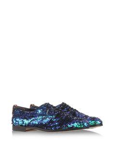Metallic blue lace-ups by AGL Attilio Giusti Leombruni #Glitter Sparkling Brogues Sequins New Arrivals Shoes Fashion
