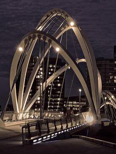 This photo from Victoria, East is titled 'Pollywood Side'. Bridges Architecture, Unique Architecture, Futuristic Architecture, Beautiful Roads, Beautiful Places, Bridge Drawing, Across The Bridge, Bridge Design, Pedestrian Bridge