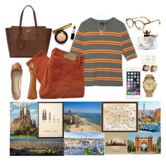 """""""Barcelona"""" by austencatherine ❤ liked on Polyvore featuring Retrò, Gucci, Denim & Supply by Ralph Lauren, Gap, Moschino, MICHAEL Michael Kors, Chanel, me&him&you, Vintage Print Gallery and Bulgari"""