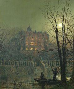 Under the Moonbeams (2) by John Atkinson Grimshaw (1836-1893, England)